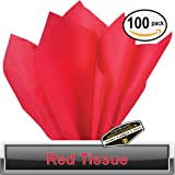 "100 pc Mighty Gadget (R) Red Tissue Wrapping Paper - 15"" x 20"""