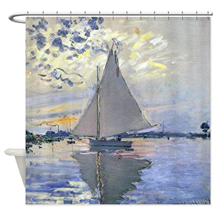 CafePress Claude Monet Sailboat Shower Curtain Decorative Fabric 69quot