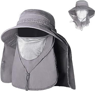 Unigear Sombrero para el Sol Gorro Pescador Anti-UV UPF50+ Gorra ...