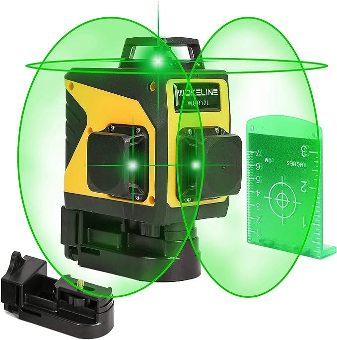 12-Line-Laser-Level-3D-360 ° Selbstnivellierungs-Kreuzlinienlaser-Laser-Measure