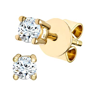 Naava Women's 9 ct Yellow Gold Diamond Earrings 0C6CYoAn1
