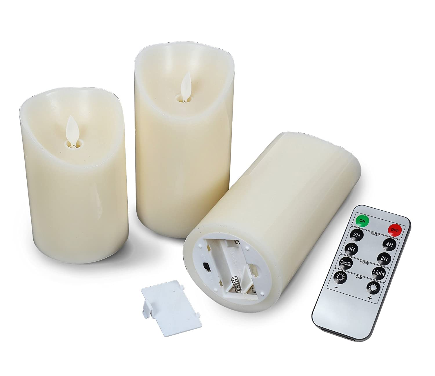Amazoncom Battery Operated Candles With 10 Key Remote And Timer