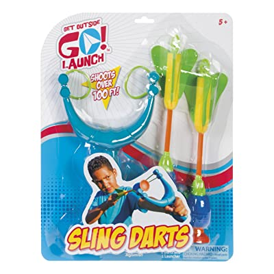 Toysmith Get Outside Go Launch Sling Darts (3Piece): Toys & Games