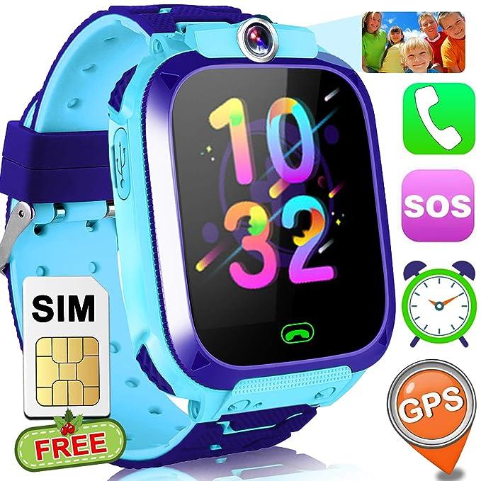 Smart Watch for kids with Free SIM Card GPS Tracker Watch Phone Girls Boys 1.5