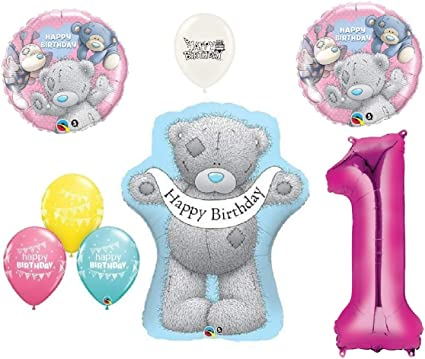 Tatty Teddy Bears Blue Nose Friends Happy Birthday Party Bouquet Of Balloons Pink Number 1 Health Personal Care