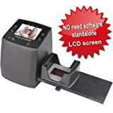 DIGITNOW! High Resolution 135 Film/Slide Scanner, Slide Viewer and Convert 35mm Negative Film &Slide to Digital JPEG Save into SD Card, with Slide Mounts Feeder No Computer/Software Required.