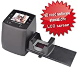 DIGITNOW! High Resolution 135 Film/Slide Scanner, Slide Viewer and Convert 35mm Negative Film &Slide to Digital JPEG Save into SD Card, with Slide Mounts Feeder No Computer/Software Required.