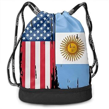 Mbefore Mochila con cordón Bandera de Argentina Americana ...