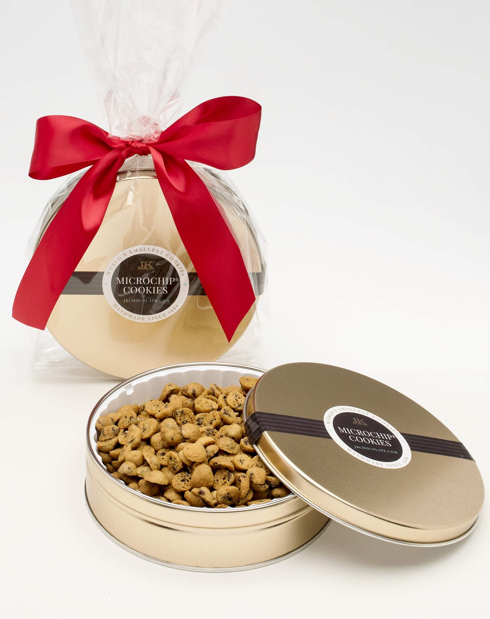 The World's Tiniest, Most Irresistible Chocolate Chip Cookies - Be The Party Favorite & Give The Gift Of Gourmet Microchips - 10oz Fresh Mini Cookies In Premium Tin - Small Batch Handmade In Texas