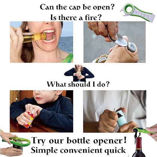 Manual puede abrebotellas mejor nunca abridor de tarros - abridor de botellas y ahorrar espacio de tapas Off abrebotellas de Jar, Grande.