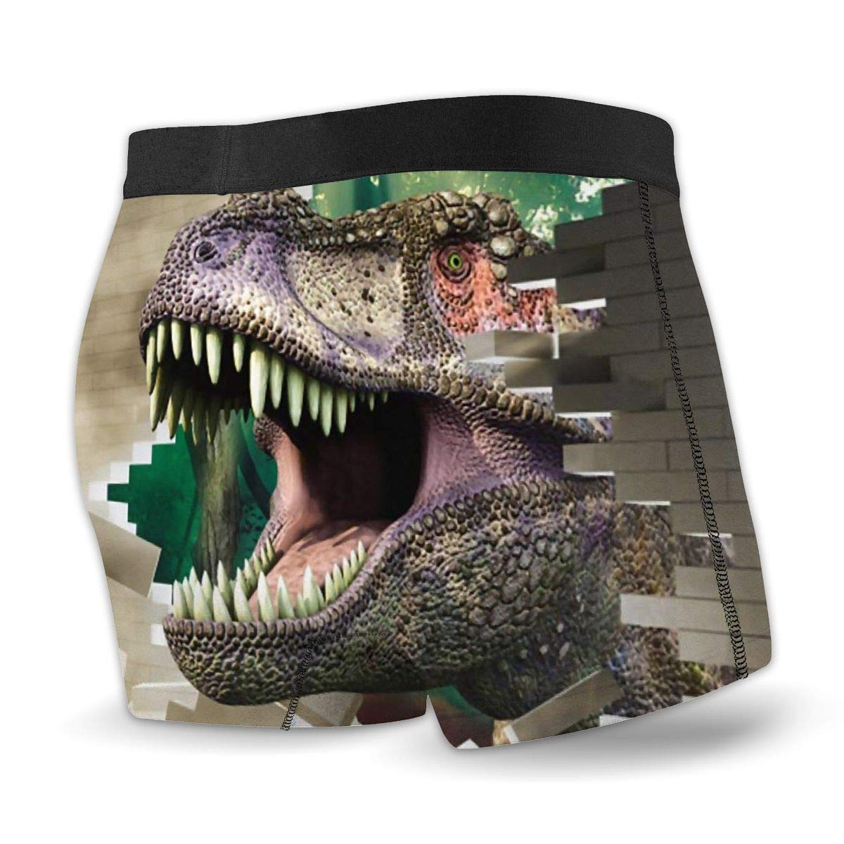 JHSDJH Dinosaur 浜?Boxer Briefs 3D-Printed Mens Casual Underwear Breathable for Sport Erotic
