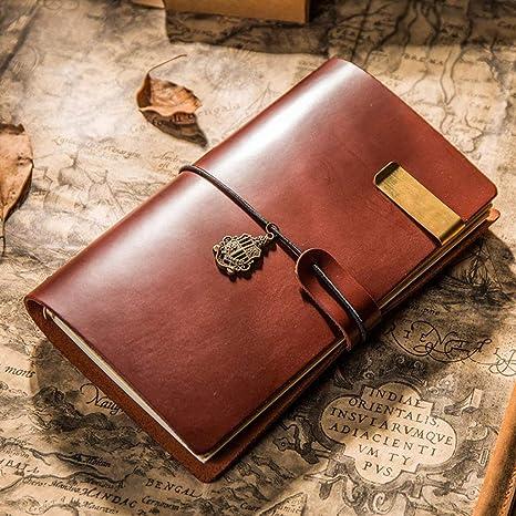 Amazon.com: MINILZY - Agenda de viaje de piel vintage, A6 ...
