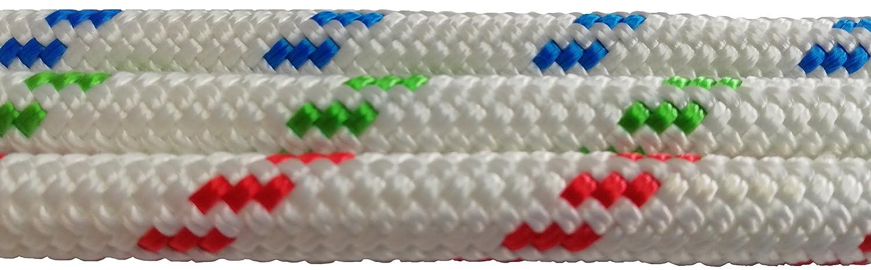 Antica Corderia Marra Corda Doppia Treccia HT Braid on Braid 060617 Drizza-Scotta-Vela-Cima-Spinnaker-Rope Ø 8mm Lucky