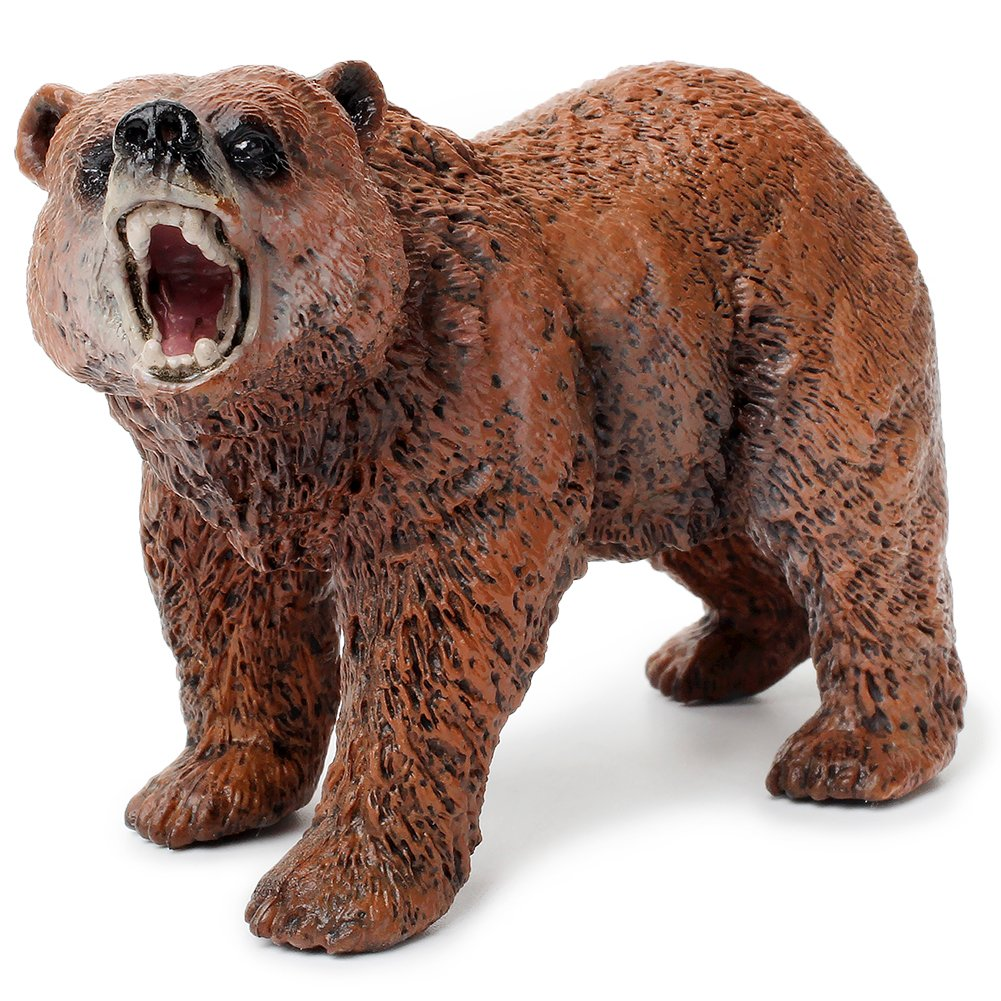 UANDME Miniature Grizzly Bear Toy Figurines, Set of 3 Bear Figures, North American Wildlife Grizzlies Male, Female and Cub (Set) by UANDME (Image #2)