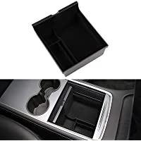 Motrobe 2021 Tesla Model Y Model 3 Flocked Center Console Organizer Tray with Coin and Sunglass Holder ONLY FIT New…