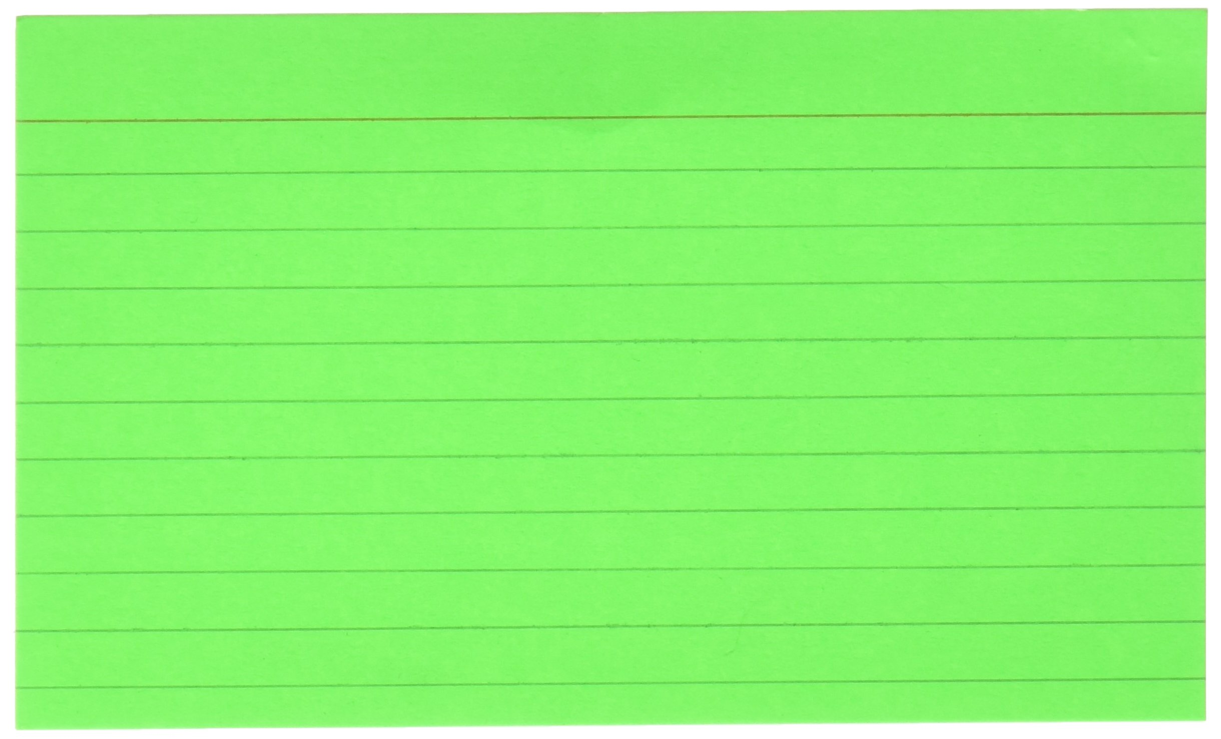 BAZIC 75 Count 3'' X 5'' Ruled Fluorescent Colored Index Card (596)