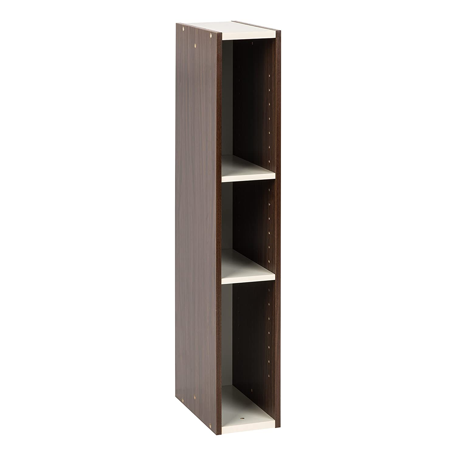 "IRIS USA, UB-9015, Slim Space Saving Shelf with Adjustable Shelves, 6 x 34"", Walnut Brown, 1 Pack"