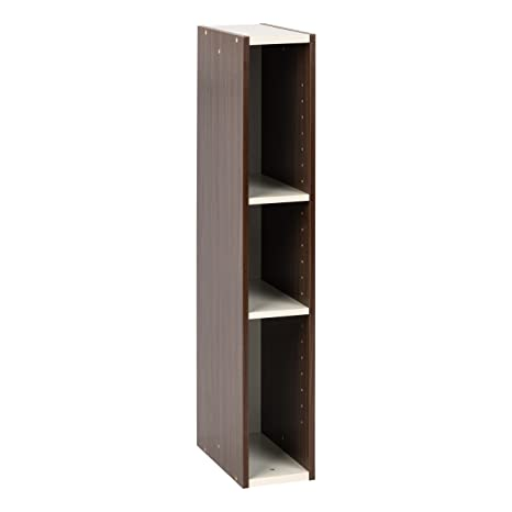 Awe Inspiring Iris Usa Ub 9015 Slim Space Saving Shelf With Adjustable Shelves 6 X 34 Walnut Brown 1 Pack Beutiful Home Inspiration Xortanetmahrainfo