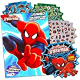 Marvel Spiderman Coloring Book with Over 270 Spiderman Stickers & Bonus Superhero Sticker