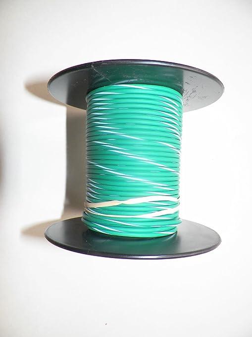 Amazon.com: Green/White Striped, 18 GA Gauge AWG GXL Wire, 100 ...