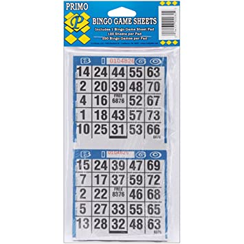 Amazon.com : Primo Bingo Paper 2-Game Sheets : Early Childhood ...