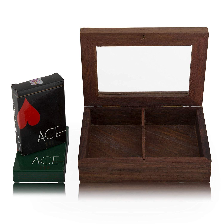 Amazon.com: Estuche organizador de madera hecho a mano con ...
