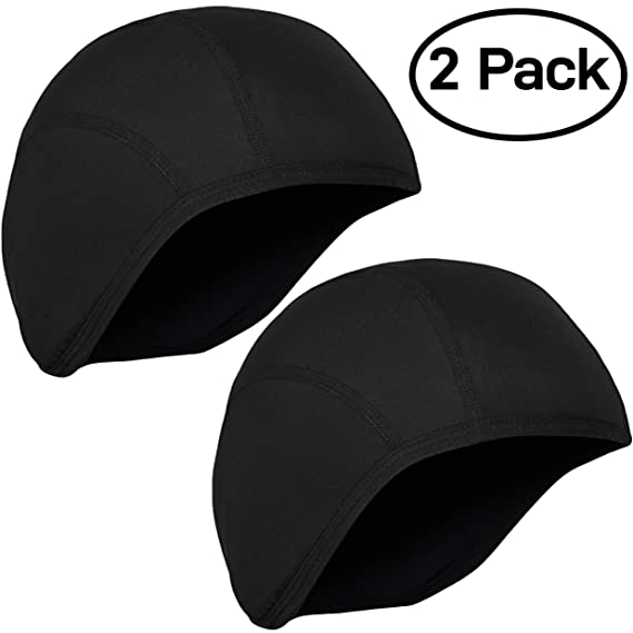 Amazon.com: GearTOP Skull Cap Helmet Liner Running Beanie (2 Pack Black): Automotive
