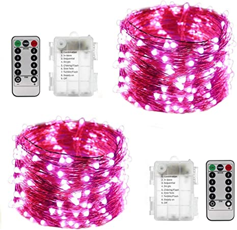 RGB pink white USB Powered cute 33ft 10 metre LED fairy lights string wire