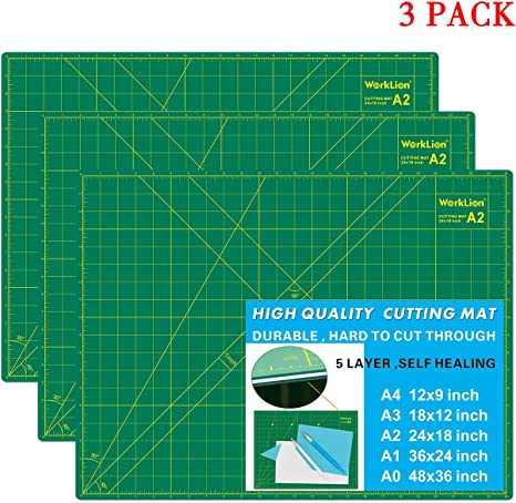 American Crafts Self Healing Cutting Mat 18 by 24-Inch