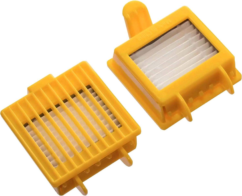 vhbw 2x filtros de aspirador compatible con iRobot Roomba 700, 720, 750, 765, 772, 772e, 774, 775 Pet, 776, 776p, 782, 782E, 785, 785 Pet: Amazon.es: Electrónica