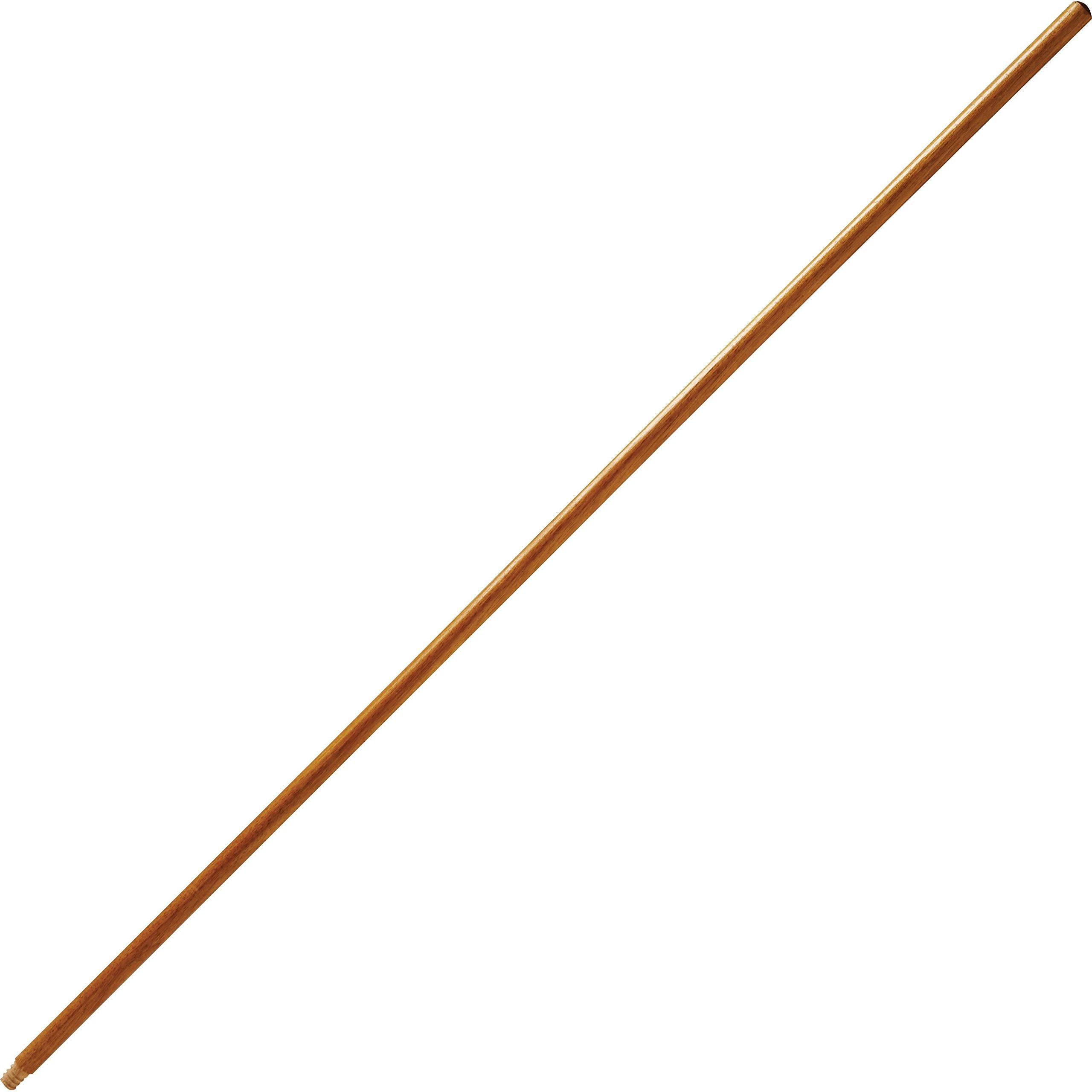 Rubbermaid 635100LAC Wood Handle, f/Fine Floor Sweep, Threaded, 54''L, Woodgrain