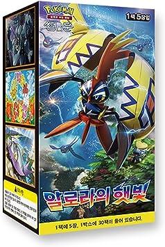 Pokemon Cartas Sun & Moon Booster Pack Caja 30 Packs en 1 caja Albor de Guardianes (Islands Await You) + 3pcs Premium Card Sleeve Corea Ver TCG: Amazon.es: Juguetes y juegos