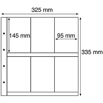 hojas de plástico MAXIMUM, para tarjetas Postales antiguas, formato vertical, transparente
