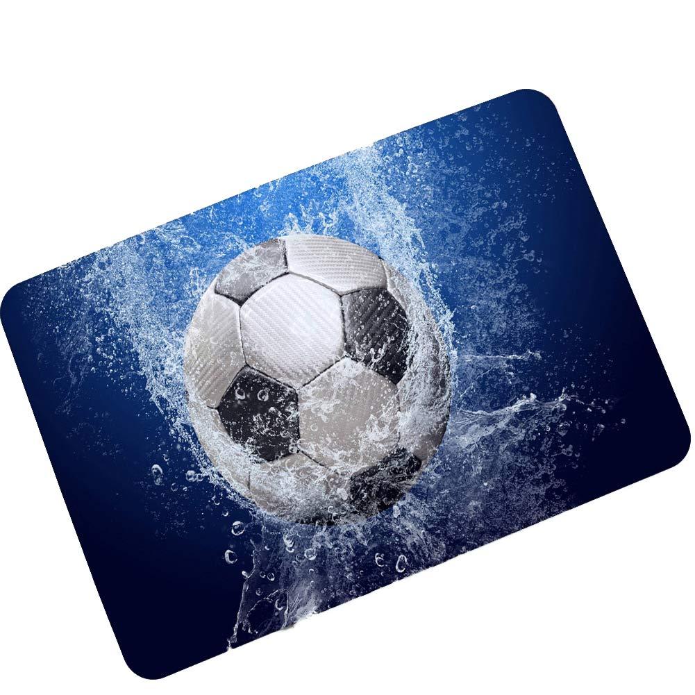 CCSUN Balón De Fútbol Alfombra De área, Resbalón Anti Goma Tapete ...