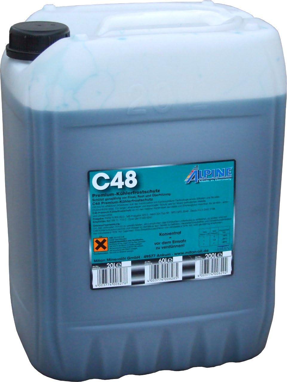 Alpine C48 Premium Kühlerfrostschutz 20 Liter Auto