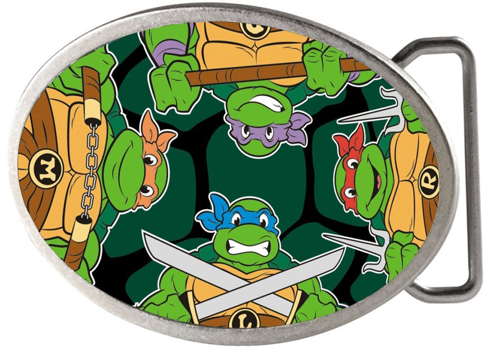 TMNT Cartoon TV Series Ninja Shell Rockstar Belt Buckle Buckle Down