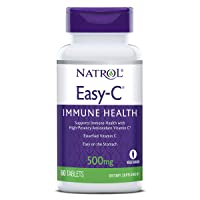 Natrol Easy-C Immune Health, Supports Immune Health with High-Potency Antioxidant Vitamin C, Tablets, 500 mg, 60 Count