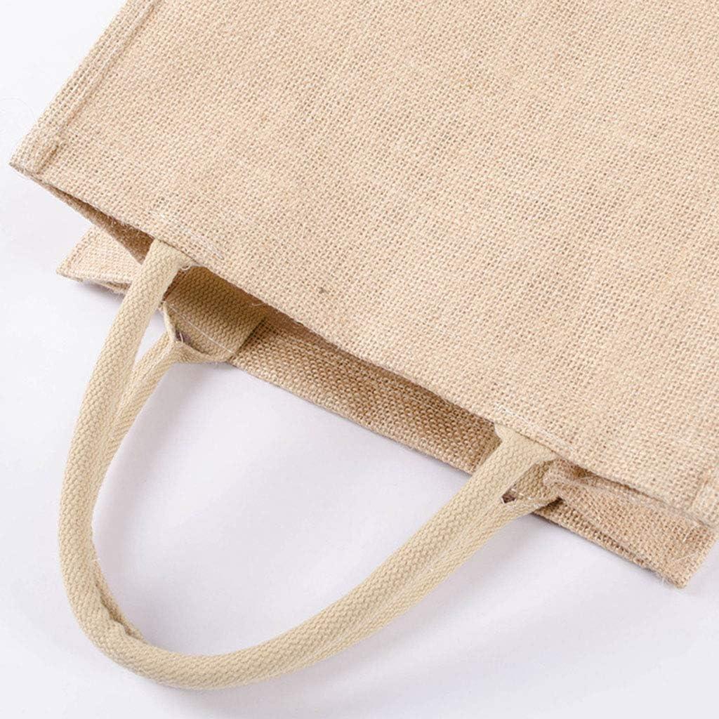 JERKKY Tote Bag Cocina Bolsas de comestibles Reutilizables Bolsas de arpillera Naturales Bolsas de Yute Bolsas de Yute