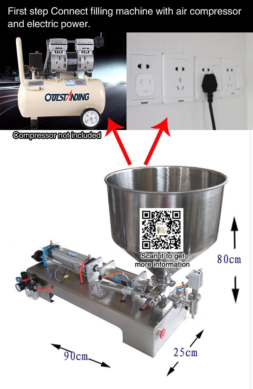 automatic filling machine 500-2500ml for cream shampoo,cosmetic