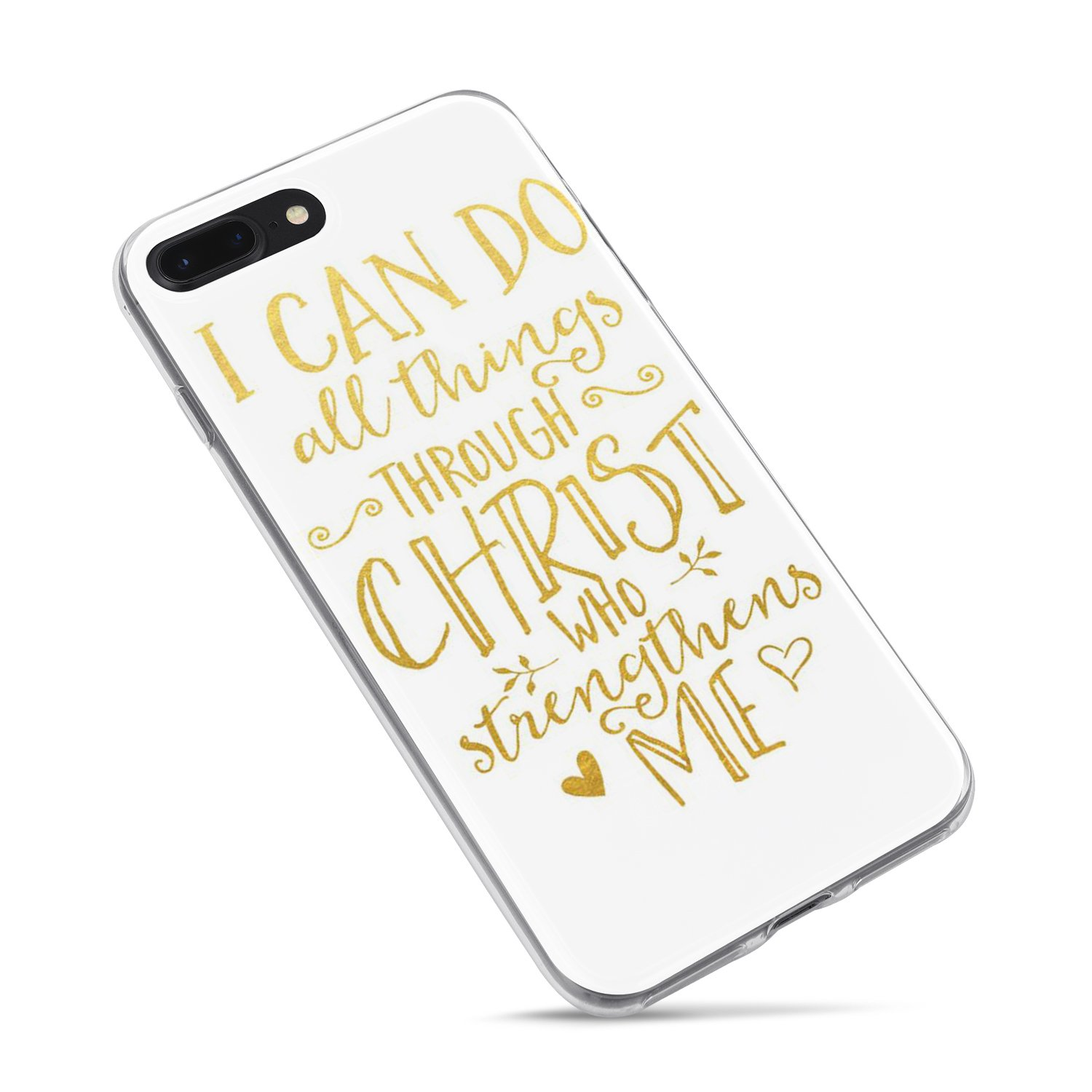 Iphone 7 Plus Girls Case Iphone 8 Plus Case Cute Bible Verses Christian Inspirational Motivational Life Quotes Can Do All Things Through Christ Soft