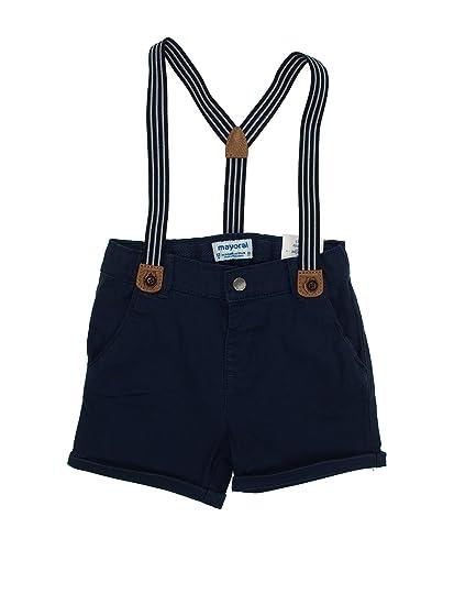 62e6d4a304b33 mayoral 28-01200-048 - Bermuda Chino Bretelles pour Bébé garçon 9 Mois  Azur: Amazon.fr: Vêtements et accessoires