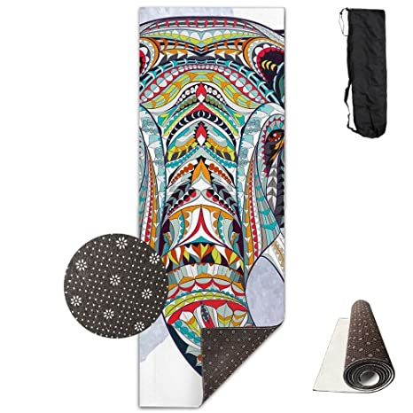 Amazon.com: V5DGFJH.B Gym Mat Art Elephant Head Fitness High ...