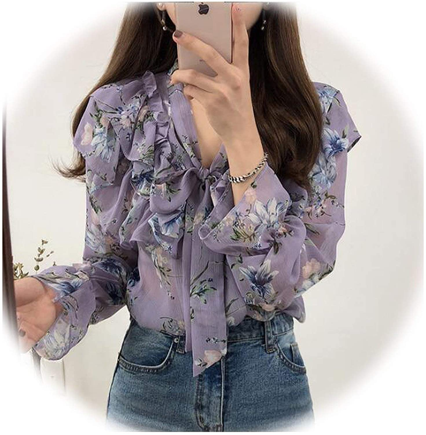 7 Cute Sweet Bow Tie Tops Women Korean Style Bow Blouses Shirts