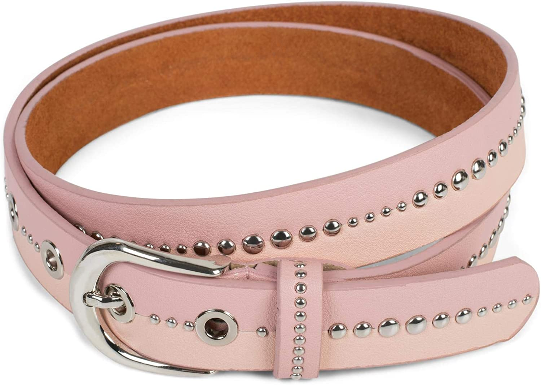 cintur/ón /«vintage/» con remaches acortable 03010095 styleBREAKER cintur/ón de mujer bicolor con remaches redondos
