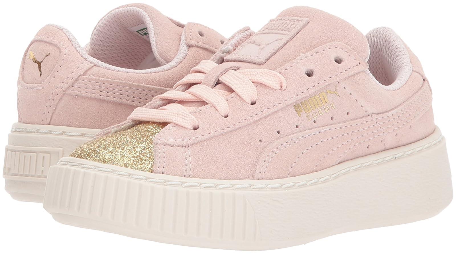 PUMA Kids' Suede Platform Glam Sneaker Pink 36492207 - 6