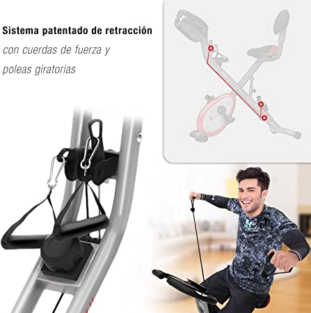 Sportstech X150 Bicicleta estática 4 en 1 con aplicación para ...