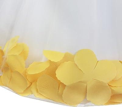 IEFIEL Vestido de Flores Blanco Niña Vestido Boda Fiesta Ceremonia ...
