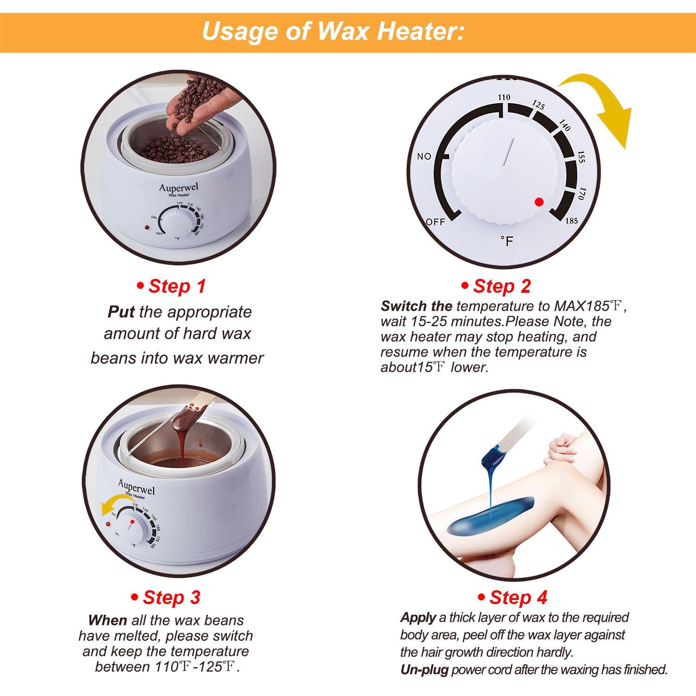 Bikini wax application temperature