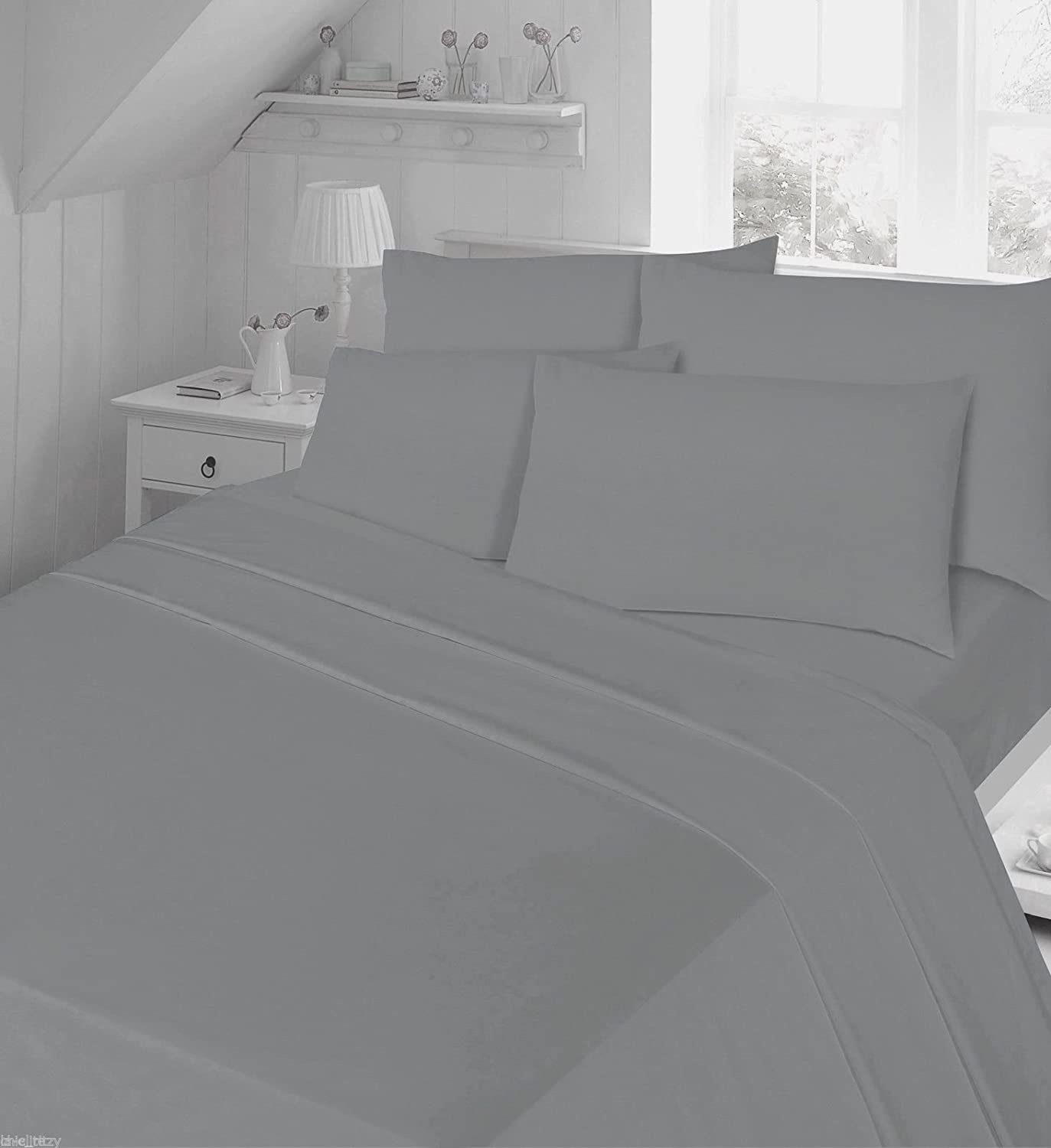 Flannelette Sheet Set King Size with Pillowcases Bedding Set 100% Cotton Includes 1 Fitted Sheet + 1 Flat Sheet + 2 Pillowcase, Cream King NIGHTZONE