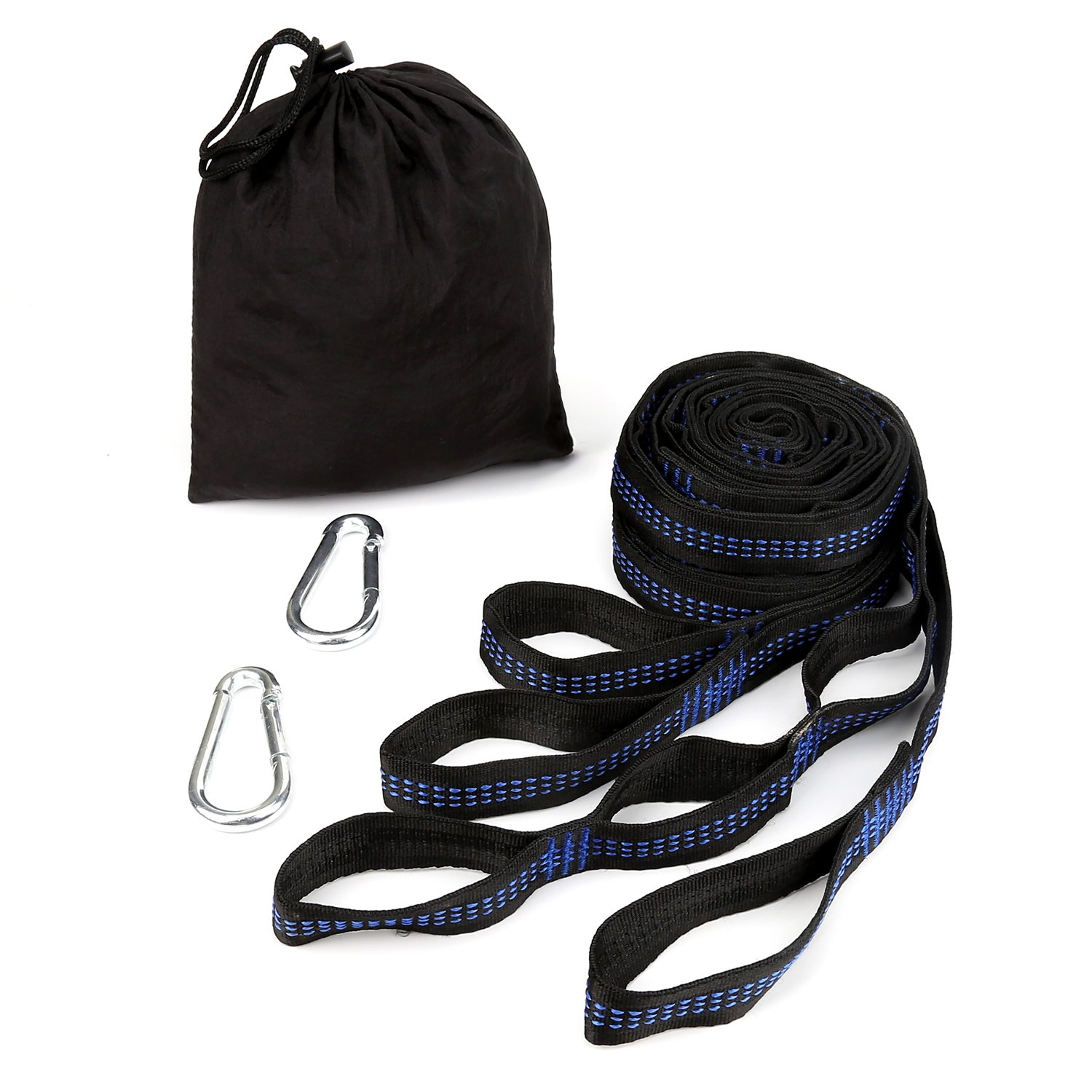 OYISIYI Hammock Straps, 9.5FT Tree Hanging Strap Set with Heavy Duty Adjustable 36 Loops for Camping, Hiking or Backyard (2 Free Carabiners Included)